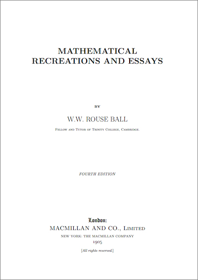 essay mathematical recreation